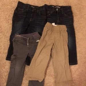 Other - Lot of 4 pairs of toddler 2T pants GUC